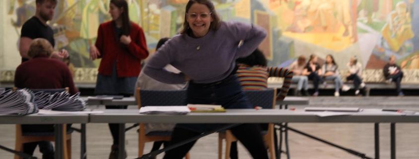 Emilie pugger til eksamen