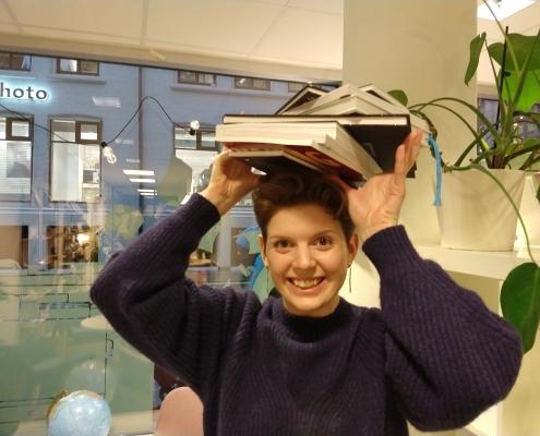 Ann Helen pugger til eksamen